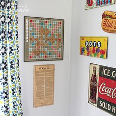 Look how great this repurposed Scrabble game board turned out! You can use any game you want
