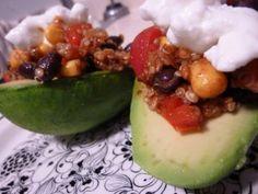Quinoa Stuffed Avocados Recipe - Great for vegetarians!