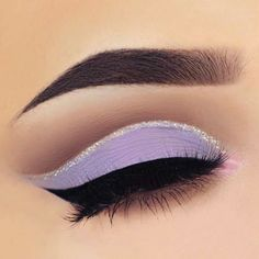 Light purple eye look