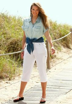 Chambray shirt and outfits for summer | Fashion and styles