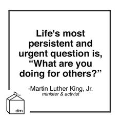 """""""what are you doing for others?"""" - """"the life's most persistent and urgent question"""" - martin luther king, jr - Ver esta foto do Instagram de @designmilk • 875 curtidas"""""""
