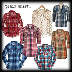 Plaid shirts will never be out of style!!
