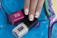 Stripe Tips by JINsoon | Sephora Beauty Board #Sephora #nailart