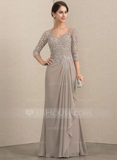JJsHouse A-Line V-neck Floor-Length Chiffon Lace Mother of the Bride Dress With Beading A-Line V-neck Floor-Length Beading Zipper Up Sleeves Sleeves No Taupe General Plus Chiffon Lace Mother of the Bride Dress Mob Dresses, Fashion Dresses, Bridesmaid Dresses, Wedding Dresses, Pageant Dresses, Dressy Dresses, Party Dresses, Dress Brokat, Kebaya Dress