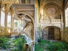 Sant Etienne, abandoned church in Normandy