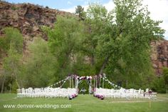vintage circus wedding - ceremony arch or altar ideas