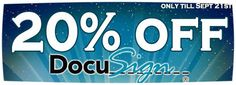 20% off Docusign!  Get this deal before it expires On Sept 21st.!