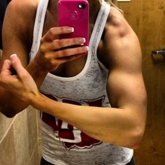Ladies, you don't get arms like this lifting 5lb weights. Lift like a man.