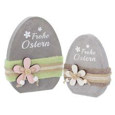 """Deko-Ei """"Frohe Ostern"""", 2er Set jetzt für 5,50 € kaufen im Frank Flechtwaren und Deko Online Shop"""