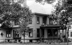 413 N. Main - Built by Marie Tracey Fellows Buck Owen in 1899, just 10 years before she died at the age of 97 ~ she was one of the very early pioneers of Livingston County and had much to do in the building of Pontiac. She witnessed almost the entire development of Livingston County. The home was sold to Agnes Sells to use as a boarding house and was later sold to Raleigh J Harris to use as a funeral home. The home was demolished at a later date.