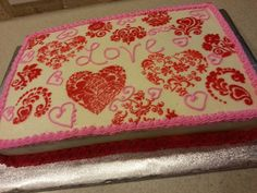 Valentine's day cake by Just Bite Me Creations
