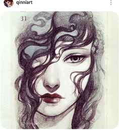 Qinniart on Instagram. Great sketch. Manga Anime, Anime Art, Figure Sketching, Fanart, Inspirational Artwork, Anime Kawaii, Illustration Sketches, Drawing People, Portrait Art