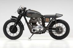 Old meets new: A Triumph Bonneville custom in carbon fiber.