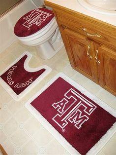 Aggie Bath Rug Set Maroon Bathroom Sets Modern Bathrooms Mat