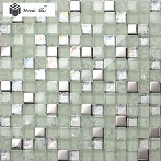 Image result for silver mosaic tiles