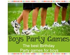 Boys Party Games | Birthday party ideas 4 Kids