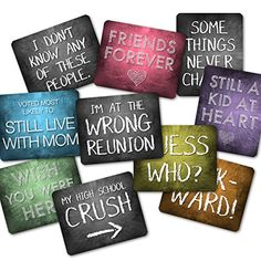 Designed for a lively high school or college reunion, these plastic x phrases will be a hit in your photo booth! Always A Bridesmaid, Wedding Bridesmaids, Class Reunion Decorations, Ebay Shopping, Beer Opener, Wedding Crashers, Heart For Kids, Photo Booth Props, Love Signs