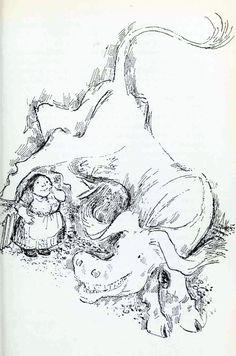 A Book of Magical Beasts - Raymond Briggs Raymond Briggs, British Books, British Traditions, Edmund Dulac, Magazine Illustration, Book And Magazine, Science Fiction, Beast, Artist