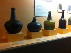 Old wine bottles at Beaune museum.