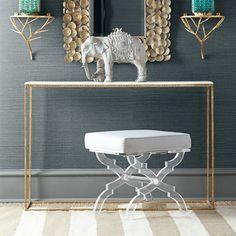 Acrylic+X-bench+stool+-+love!