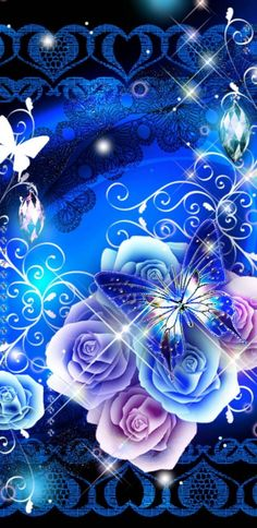 Fantasy Garden wallpaper by NikkiFrohloff - - Free on ZEDGE™ Blue Butterfly Wallpaper, Flower Phone Wallpaper, Neon Wallpaper, Scenery Wallpaper, Cute Wallpaper Backgrounds, Wallpaper Iphone Cute, Cellphone Wallpaper, Flower Backgrounds, Colorful Wallpaper