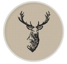 Deer small size Сross stitch pattern Instant by MagicCrossStitch