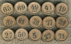 Vintage Game Piece - Tombola Country Treasures, Flea Market Style, Vintage Board Games, Game Pieces, Letters And Numbers, Amazing Art, Retro Vintage, Game Boards, Graphic 45