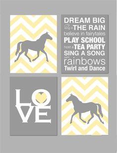 Horse Nursery Baby Girl Nursery Art Horse Nursery Girl Room Decor by  karimachal 9f128905de62