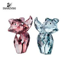 Swarovski Crystal Figurine Lovlot Cats Set of 2 MARIE & PIERRE #995011