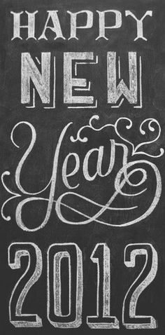 chalkboard sign - lettering except would say graduation 2013 not new year.
