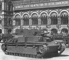 T-28 tanks in red square 7th November 1940