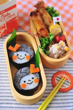 Kawaii Sushi Girls Kyaraben, Character Bento Lunch by Akinoichigo さすが^o^