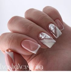 23 Best Gel Nail Designs to Copy in 2019 Elegant Nail Designs, Pretty Nail Designs, Simple Nail Art Designs, Gel Nail Designs, Easy Nail Art, French Nail Art, French Tip Nails, French Manicures, Cute Nails