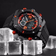 SKMEI 1156 Men LED Digital Double Movt Luminous Alarm Date Stopwatch 50M  Waterproof Watch at Banggood c742213ba1