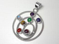Sterling Silver Chakra Gemstone Pendant #houseofaudrey