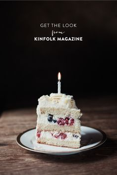 Vanilla & berry cake  | Photography by http://anaisdax.com | Style Me Pretty Living | http://www.stylemepretty.com/living/2013/03/12/a-cozy-space-by-kinfolk-magazine-anais-dax/