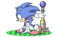 Totally cool artwork of Sonic the Hedgehog!