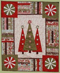 Step Into Christmas Quilt Pattern by Abbey Lane Quilts at KayeWood.com. A jelly roll and some yardage make up this beautiful Christmas quilt. It is sure to be a classic with it's trees and peppermint candies. Check out the 3-D candy accents on the trees. STEP INTO CHRISTMAS will start your holiday season right. http://www.kayewood.com/item/Step_Into_Christmas_Quilt_Pattern/3594 $9.50