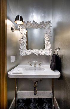 #Glam #Mirror #PowderRoom #Inspiration