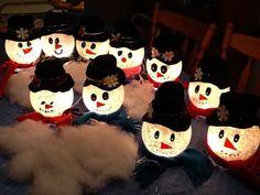 Light-Up Snowman: How to Make a Snowman Using an Ivy Bowl