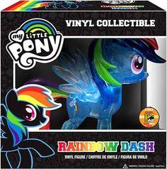 My Little Pony 2013 SDCC San Diego Comic-Con Vinyl Figure Crystalized Glitterized Sparkelized Glam Rainbow Dash