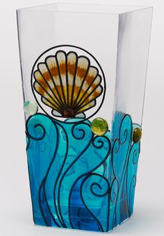 DIY: Summer Shell Glass Vase
