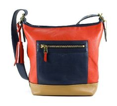Coach-Large-Leather-Legacy-Colorblock-Duffel-Hobo-Bag-Navy-Red-19995-NWT