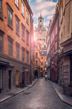 'Peaceful Alley' by Aku Pöllänen on 500px #Stockholm #Sweden