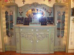 "Repurpose Dresser went to the mall in Atlantic City NJ & saw this store by the name of ""Michal Negrin"" I just fell in love with her pieces of jewelry & how beautiful this dresser is redone."