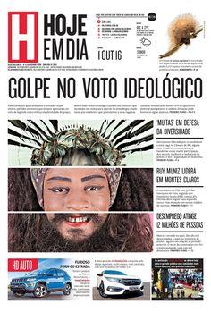 Capa do dia 01/10/2016 #HojeEmDia #Jornal #Notícias #News #Newspaper