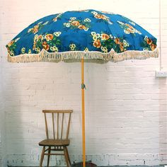 Vintage garden umbrella from wintersmoon shop
