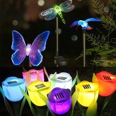 Solar Power Outdoor LED Light Garden Yard Path Way Landscape Lamp Waterproof