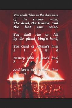 Day 1) Favorite Pjo book= The Battle of the Labyrinth. I LOOOVEEED this book for reasons, okay? And my favorite book from the HoO series is The Mark of Athena. Yours in demigodishness and all that. Peace out.