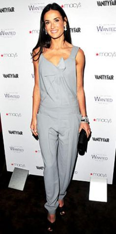 Look of the Day › November 2, 2009 WHAT SHE WORE Moore chose a sculptural silver jumpsuit from RM by Roland Mouret, worn over a mesh tank from the designer and Cartier jewelry WHERE The New York City launch of Moore's fragrance, All You've Ever Wanted